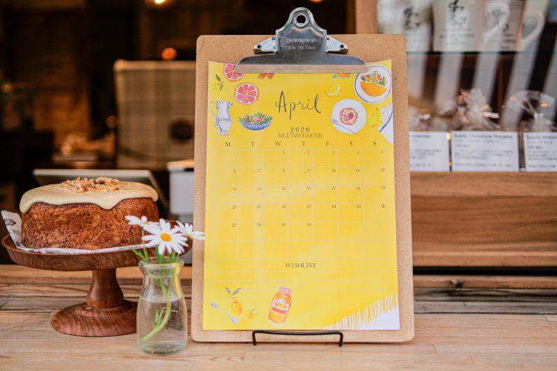 【無料】#今日の小仕事 カレンダー(2020年4月・5月・6月分) 4