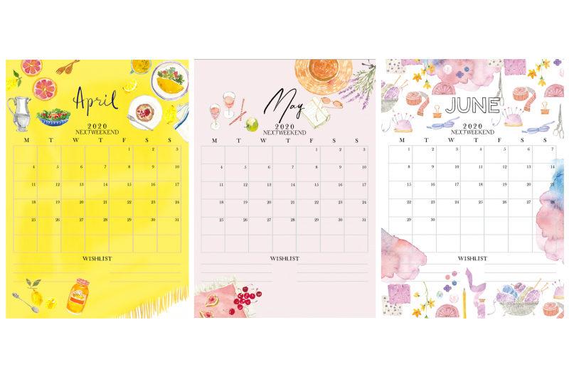 【無料】#今日の小仕事 カレンダー(2020年4月・5月・6月分) 2