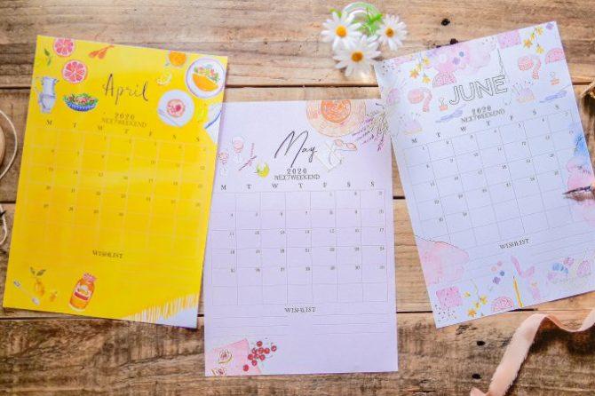 【無料】#今日の小仕事 カレンダー(2020年4月・5月・6月分)