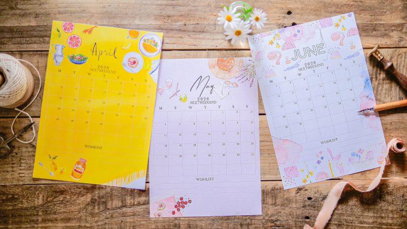 【無料】#今日の小仕事 カレンダー(2020年4月・5月・6月分) 1