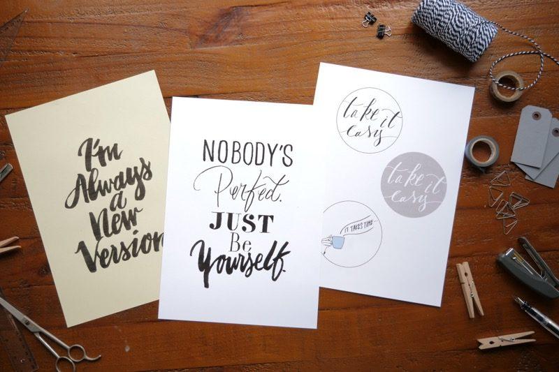 自分のために飾りたい、メッセージデザイン 1