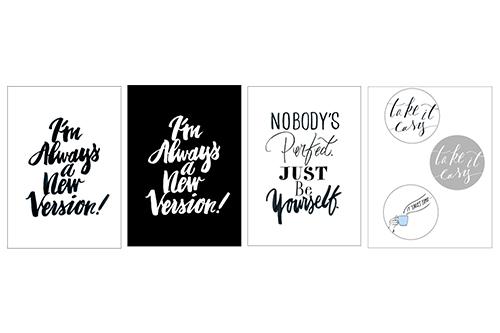 自分のために飾りたい、メッセージデザイン 7