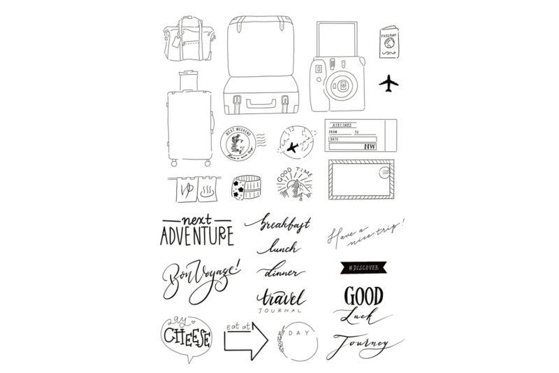 【無料】旅の記録に使いたい、イラスト&メッセージ集 2