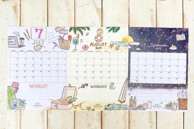 【無料】#今日の小仕事 カレンダー(2019年7月・8月・9月分)