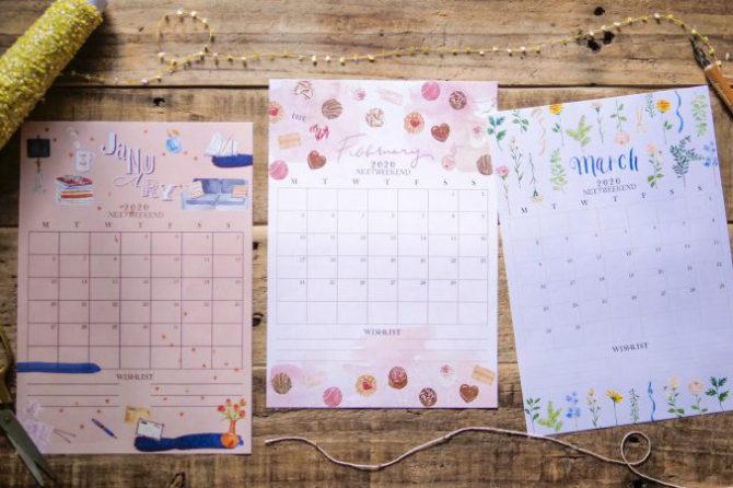 【無料】#今日の小仕事 カレンダー(2020年1月・2月・3月分)