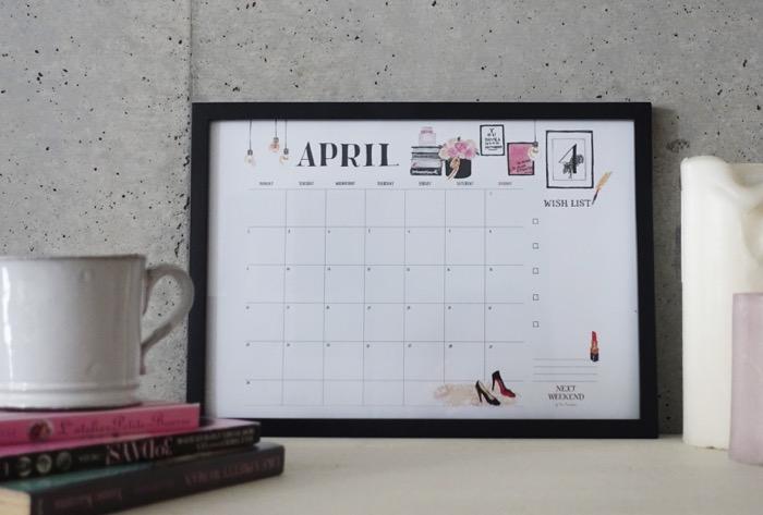 【無料】#今日の小仕事 カレンダー(2018年4月・5月・6月分) 1