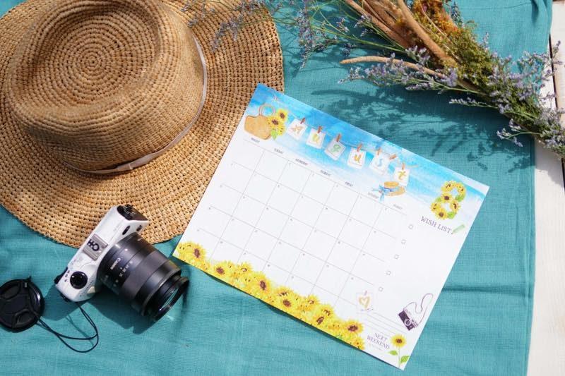 【無料】#今日の小仕事 カレンダー(2018年7月・8月・9月分) 1