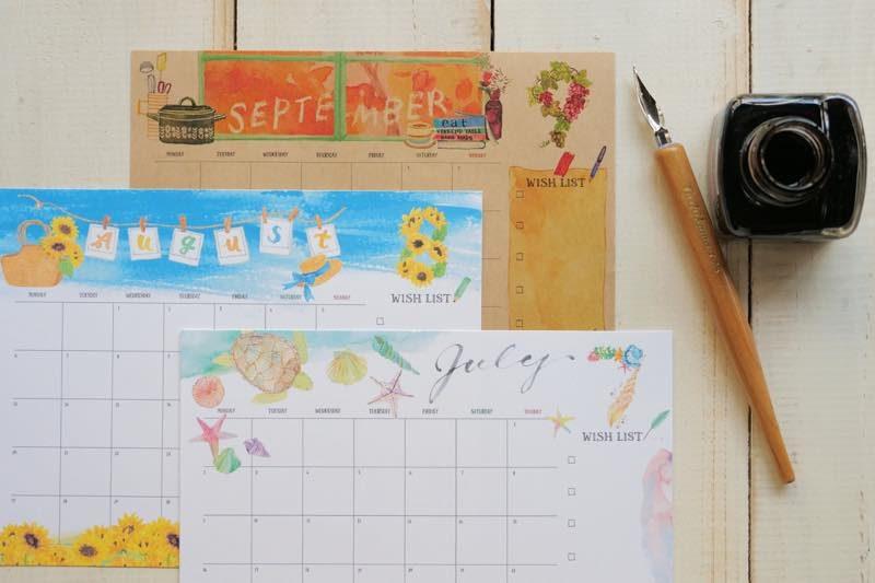 【無料】#今日の小仕事 カレンダー(2018年7月・8月・9月分) 3