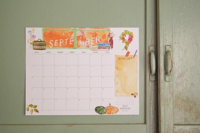 【無料】#今日の小仕事 カレンダー(2018年7月・8月・9月分) 4