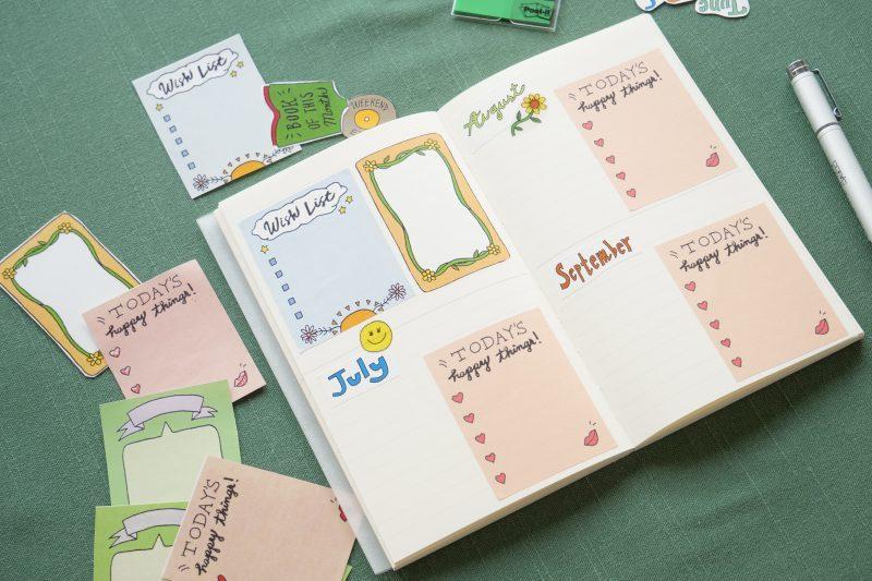 自分らしい手帳づくりを楽しむ、シールデザイン集 7