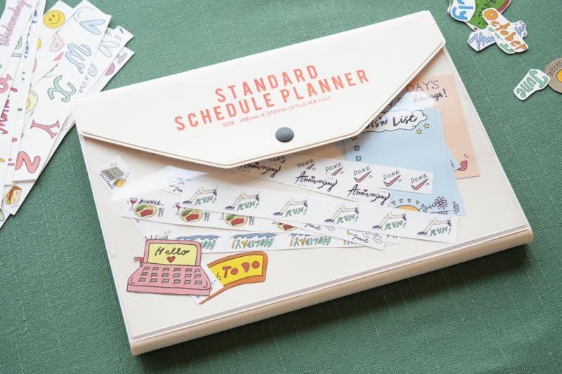 自分らしい手帳づくりを楽しむ、シールデザイン集 4
