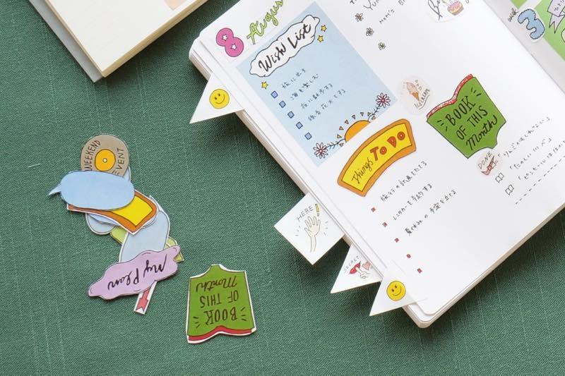 自分らしい手帳づくりを楽しむ、シールデザイン集 3
