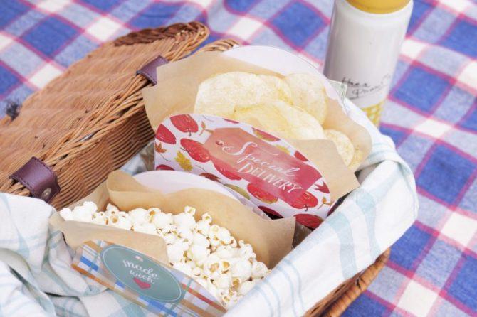 【無料】型紙|ピクニックに持っていきたいチップボックス