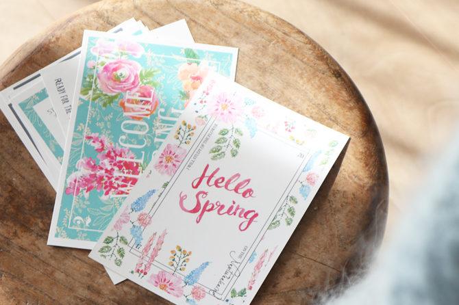 春のはじまりに送りたい、季節のポストカードセット