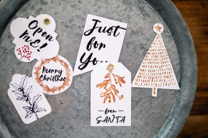 【無料】6種のギフトタグ(クリスマスデザイン集より)