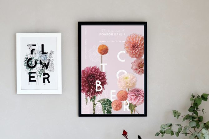 10月のポスターとカレンダー