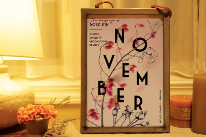 季節のポスター 11月のお花と花言葉