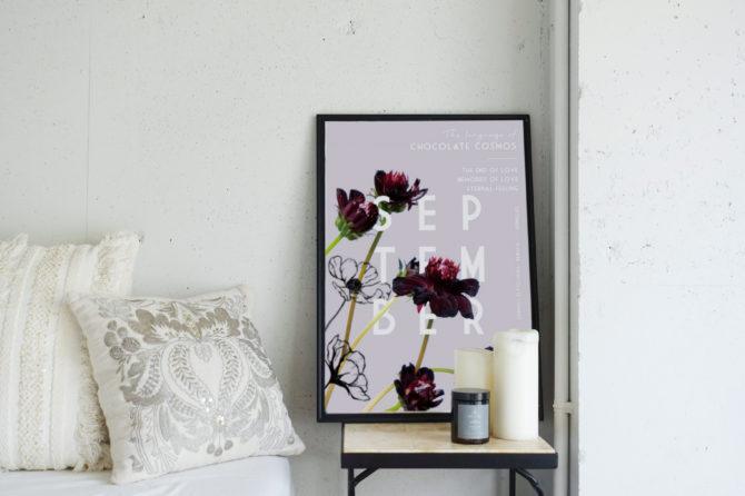 季節のポスター 9月のお花と花言葉