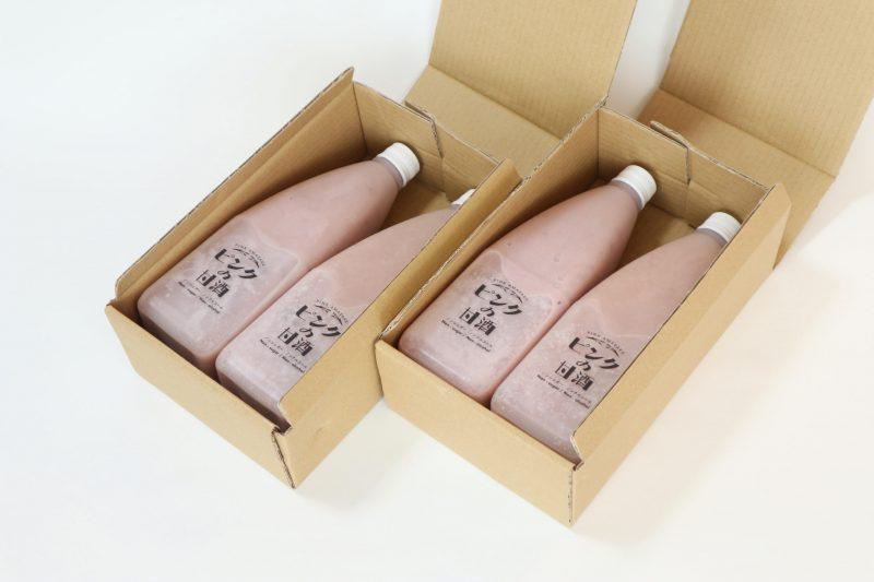 ピンクの甘酒 プロセット(4本) 2