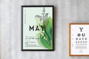 5月のポスターとカレンダー