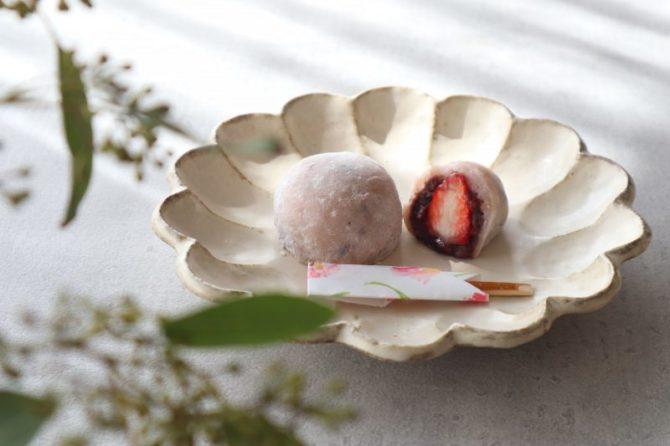 レシピ|ピンクのフルーツ大福