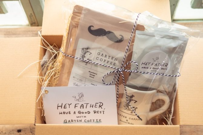 【SOLD OUT】選べるメッセージ付き GARTEN COFFEE父の日ギフト(マグカップ入りセット)