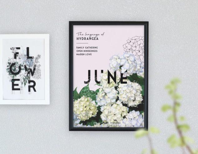 6月のポスターとカレンダー