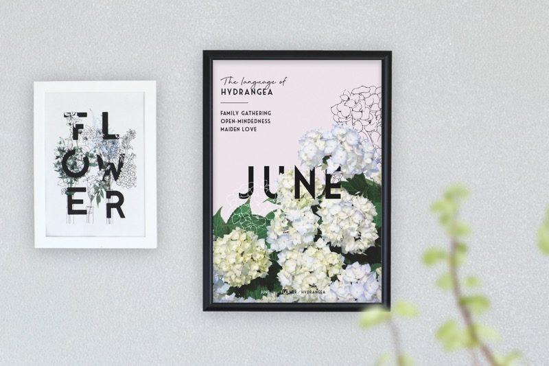 季節のポスター 6月のお花と花言葉 1
