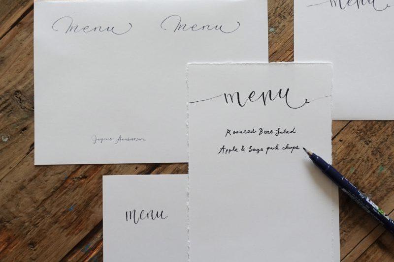 【無料】忘れられないバースデーテーブルを作る、文字デザイン集 3