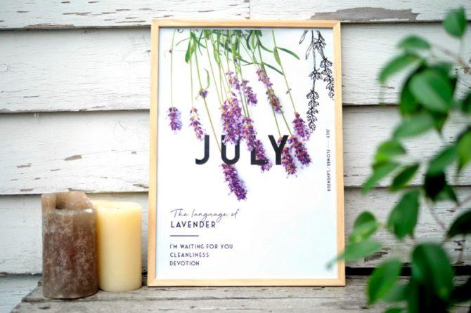 7月のポスターとカレンダー