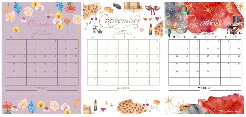 月 2020 12 カレンダー