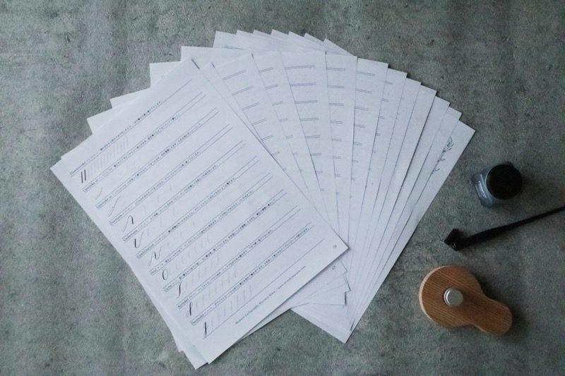 贈り物上手になる、基本のモダンカリグラフィー練習帳 7