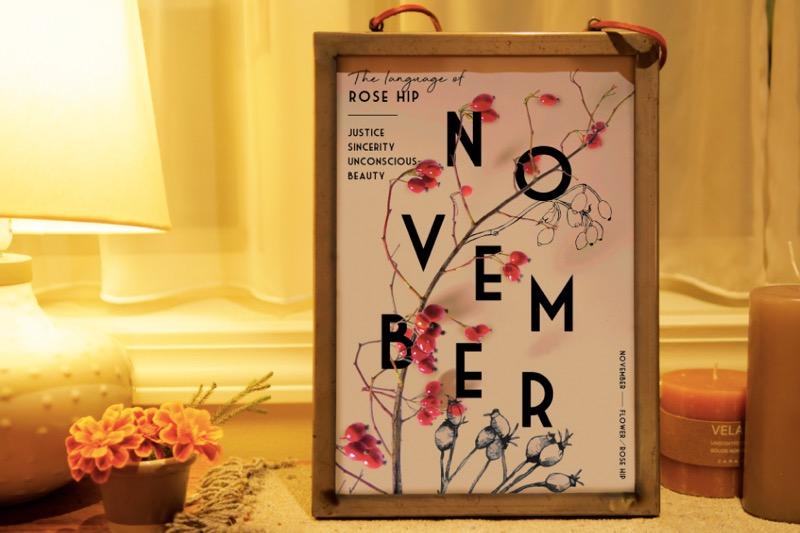 11月のポスターとカレンダー