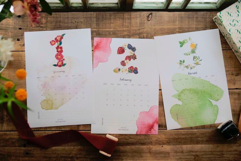 【無料】#今日の小仕事 カレンダー(2021年1月・2月・3月分) 1