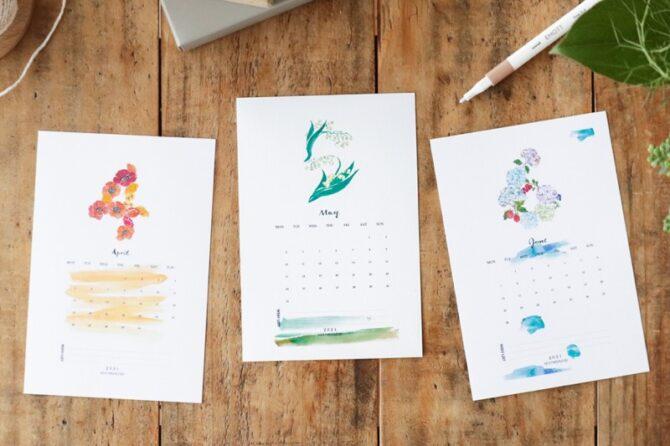 【無料】#今日の小仕事 カレンダー(2021年4月・5月・6月分)
