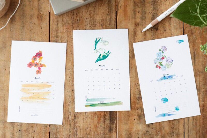 【無料】#今日の小仕事 カレンダー(2021年4月・5月・6月分) 1