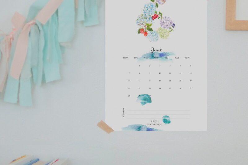 【無料】#今日の小仕事 カレンダー(2021年4月・5月・6月分) 4