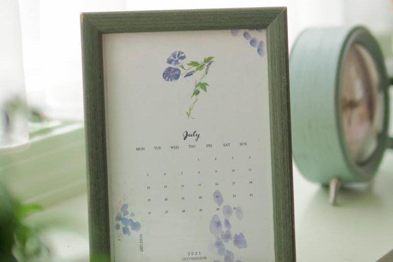 S【無料】#今日の小仕事 カレンダー(2021年7月・8月・9月分) 5