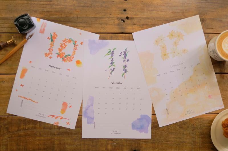 【無料】#今日の小仕事 カレンダー(2021年10月・11月・12月分) 1